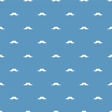 Seamless Pattern With Mustache...