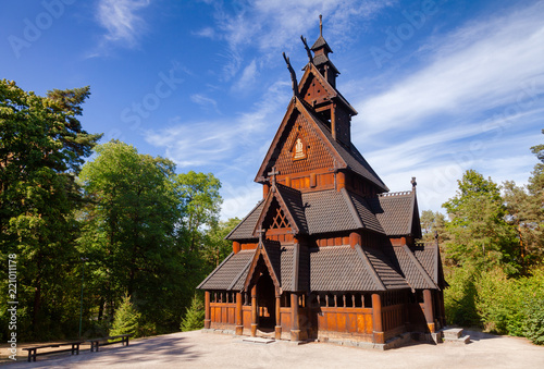 Gol Stave Church Folks museum Bygdoy peninsula Oslo Norway Scandanavia Canvas Print