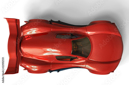 Fototapeta sport car whith no brand in a white background