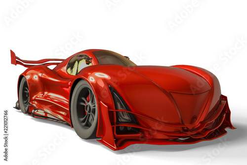 Fotografering  sport car whith no brand in a white background