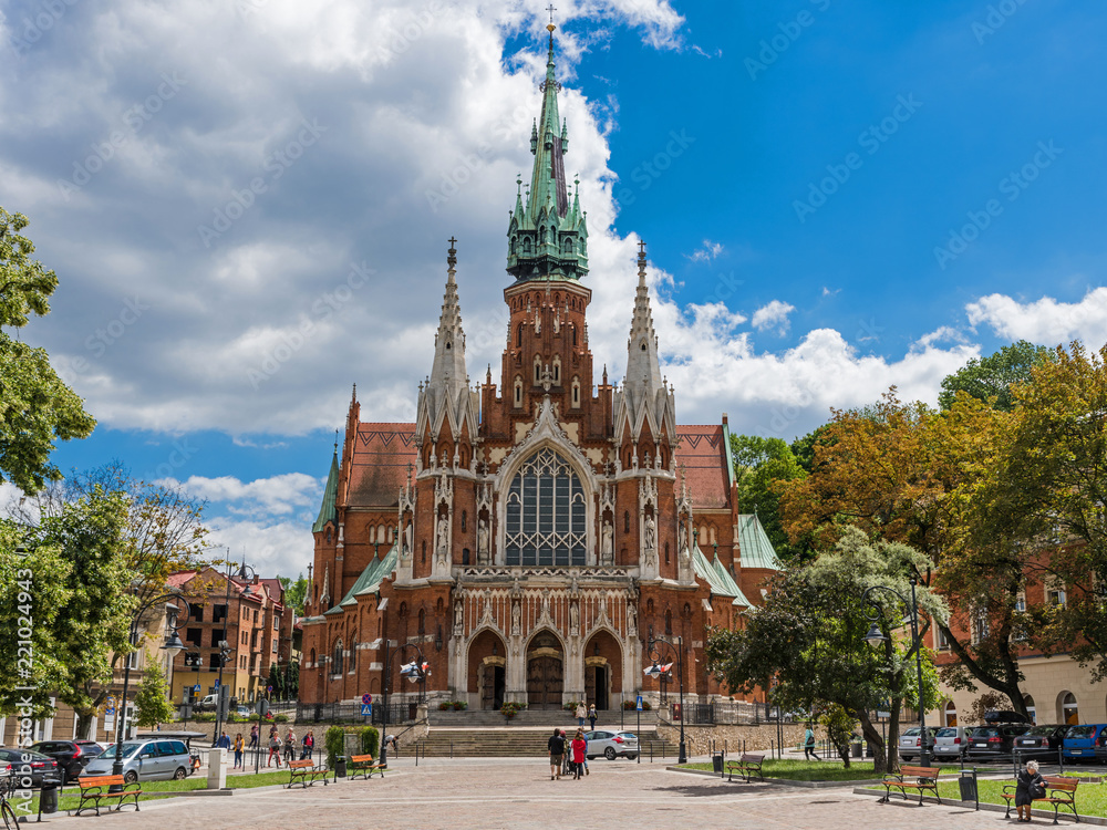 Fototapety, obrazy: Krakau – Sankt Josef Kirche im Stadtteil Podgórze