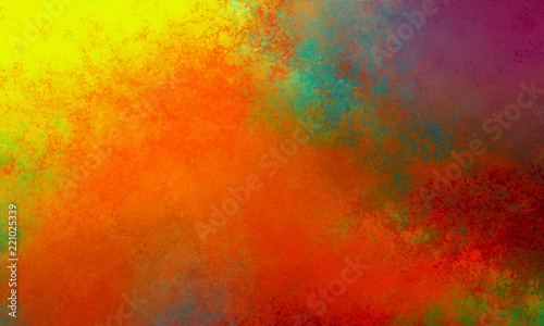 Abstract Background Design In Colorful Orange Gold Yellow