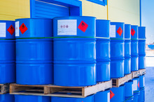Barrels. Warehouse Of Chemical...
