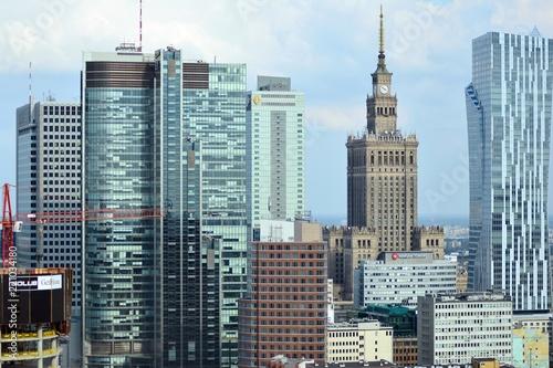 Foto op Plexiglas Panoramafoto s Downtown aerial view