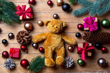 Teddy Bear With Christmas Deco...