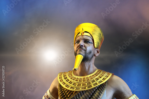 Fotografia 3D Illustration of a ancient Egyptian Pharaoh render 3D