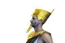 3D Illustration Of A Ancient Egyptian Pharaoh Render 3D