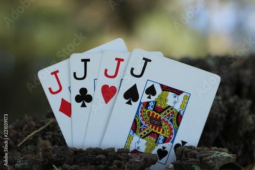 фотография  four jacks close up upright