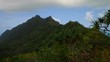 Time-lapse of green Hawaiian mountaintops.