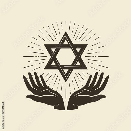 Valokuvatapetti Star of David, symbol