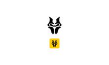 Spooky Face Mask Vector Logo I...
