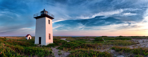 Wood End lighthouse in Provincetown, Massachusetts, USA.