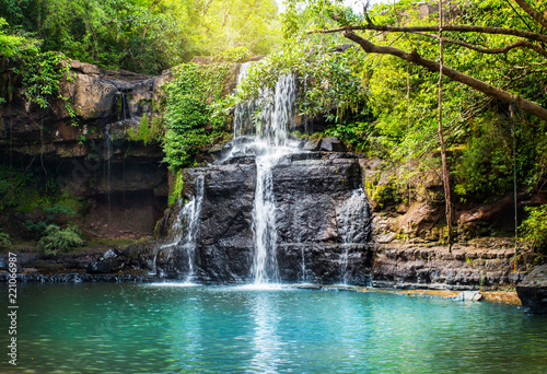 Waterfall in Koh Kood. - 221066987