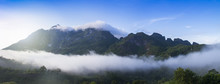 Mountain With Fog And Clouds (Doi Luang Chiang Dao)