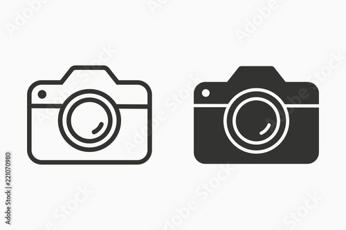 Obraz Photo vector icon for graphic and web design. - fototapety do salonu