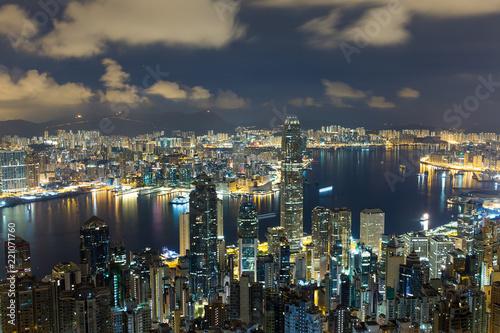 Foto op Canvas Seoel Hong Kong city at night