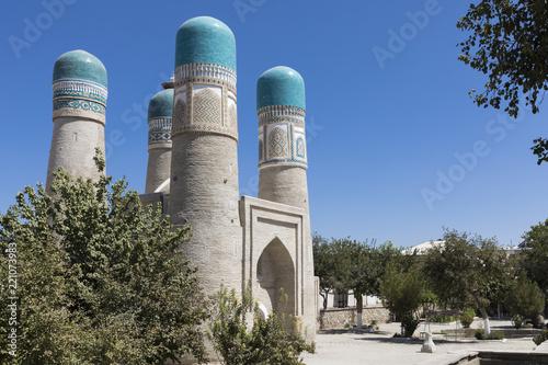 Spoed Foto op Canvas Historisch geb. Chor Minor or Madrasah of Khalif Niyaz-kul. Bukhara, Uzbekistan