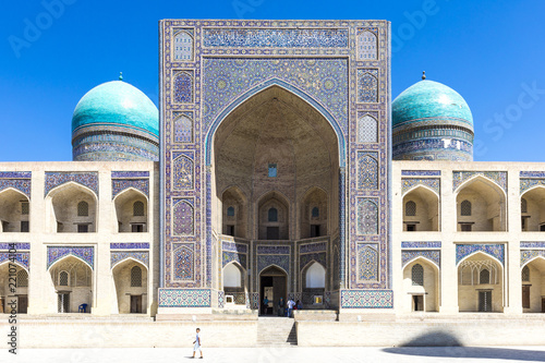 Spoed Foto op Canvas Historisch geb. Mir-i-Arab Madrasah (Miri Arab Madrasah) in Bukhara, Uzbekistan