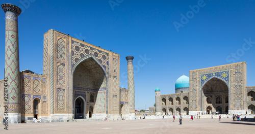 Spoed Foto op Canvas Historisch geb. The Registan, the heart of the ancient city of Samarkand - Uzbekistan