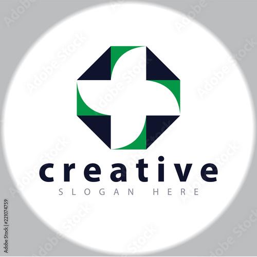 Fotografie, Obraz  cross medical logo design template