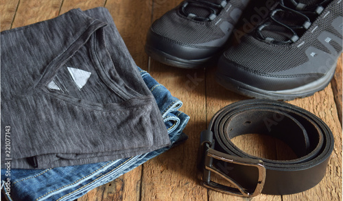 Men's casual outfits. Men shoes, clothing and accessories on