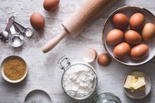 Ingrédients Pour La Préparation D'un Gâteau