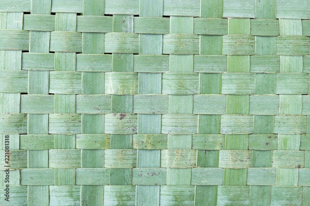 Fototapety, obrazy: Imperfect woven flax kete harekeke background in New Zealand, NZ