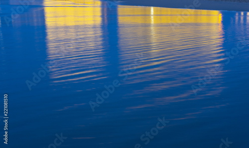 Fototapeta SAN SEBASTIAN, SPAIN - SEPTEMBER 04, 2018: Auditorium reflected in the water of