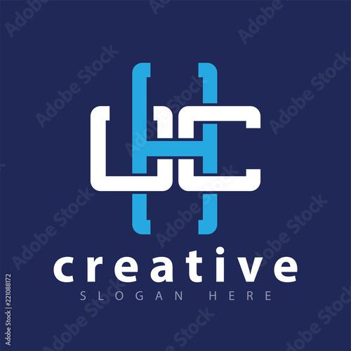 Fotografie, Obraz  Letter cross medical logo icon vector