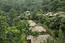Village In Tropical Forest In Indonesia