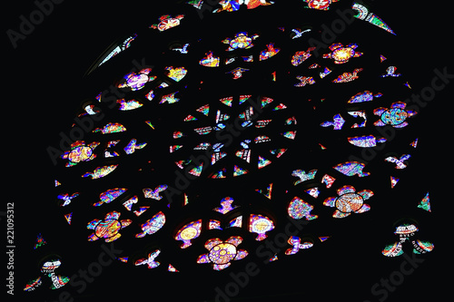 Photo  interior of the Catholic Cathedral in Prague / cathedral in the czech republic,