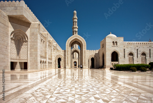 Fotografie, Tablou Sultan Qaboos Grand Mosque. Sultanate of Oman.