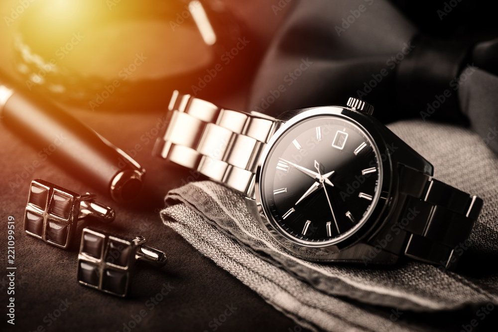 Fototapeta luxury men wristwatch