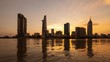 Timelapse landscape sunset to night of Ho Chi Minh city or Sai Gon. Royalty high quality free stock footage time lapse of Ho Chi Minh City in sunset to night. Timelapse or time lapse is fast video