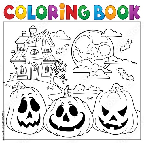 Coloring book with Halloween pumpkins 2