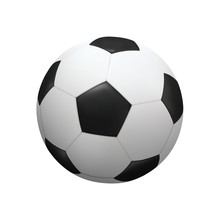Realistic Soccer Football Ball On White Background. Vector.