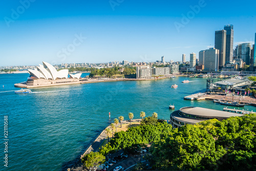 Staande foto Sydney General view of Sydney towers and opera and harbour in the summer