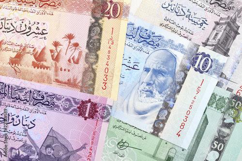 Valokuvatapetti Libyan Dinar, a business background