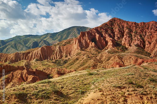 Spoed Foto op Canvas Asia land Fairy Tale Canyon, Kyrgyzstan.