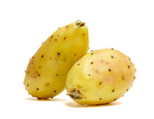 Organic Prickly Pears Isolated On White Background
