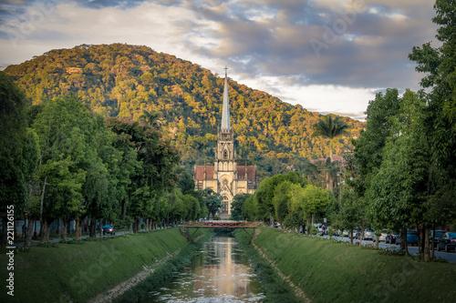 Photo Petropolis Cathedral of Saint Peter of Alcantara  and Koeller Avenue Canal - Pet