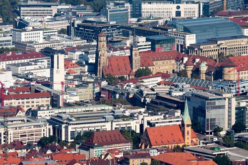 Deurstickers Centraal Europa Innenstadt von Stuttgart