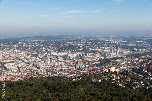 Deurstickers Centraal Europa Blick auf die Innenstadt von Stuttgart