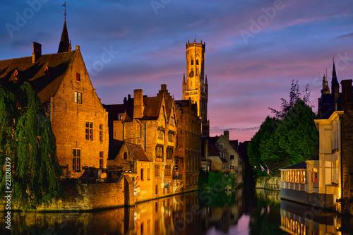 Deurstickers Brugge Famous view of Bruges, Belgium