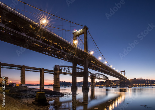 Fotobehang Brooklyn Bridge Tamar Bridges, Gateway to Cornwall