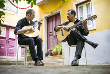 Two Fado Guitarists With Acous...