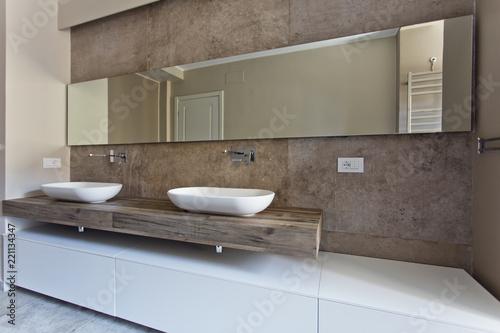Obraz Beautiful and modern bathroom - fototapety do salonu