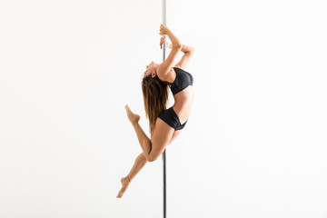Pole Fitness Expert Flaunting Dance Moves In Studio