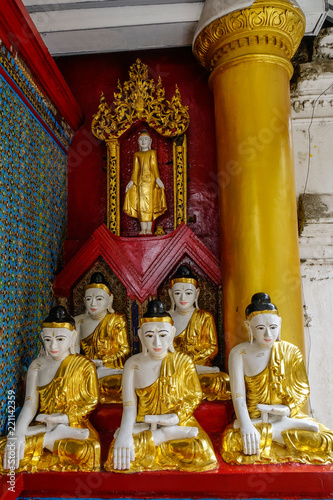 Buddha statue of Shwedagon Pagoda Canvas Print