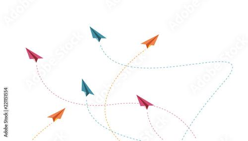 aeroplano, aeroplanino, aereo, carta, volare